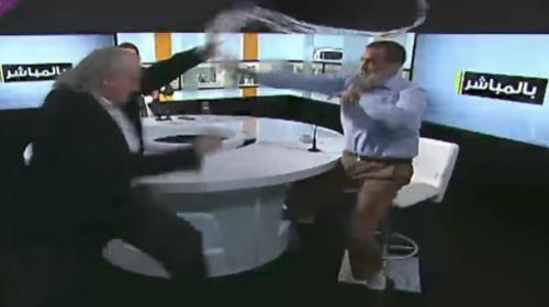Debate televisivo termina en una pelea transmitida en directo