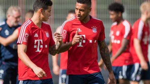 """James Rodríguez y Rafinha cantan """"Despacito"""" en el Bayern de Múnich"""