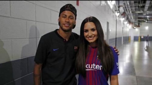 "Demi Lovato se ""roba"" a Neymar tras el triunfo del Barça sobre la Juve"