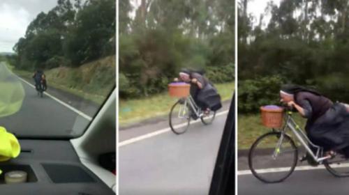 """El video de """"Sor bicicleta"""" conquista Internet a toda velocidad"""