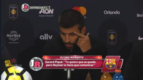 Gerard Piqué asegura que es decisión de Neymar si se va o se queda