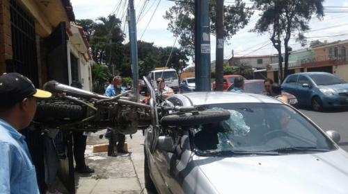 Extraño accidente ocurrió en ciudad San Cristobal