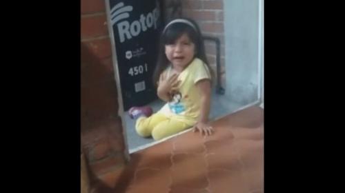 El video viral del drama de una niña que fue castigada