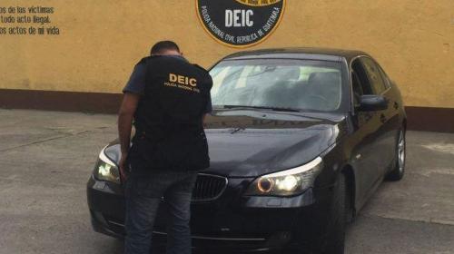 PNC encuentra en Guatemala un vehículo robado en República Checa