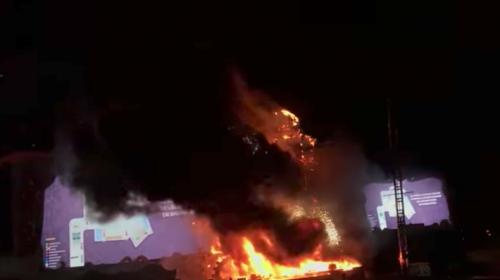 Video muestra momento del incendio en un concierto de música electrónica