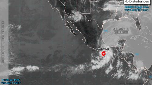 Tormenta Beatríz se forma en el Pacífico y esta será su trayectoria