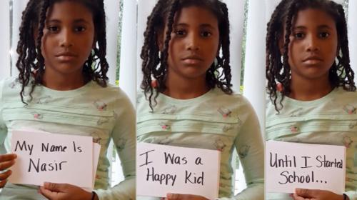 Niña de 9 años pide ayuda contra el acoso en un emotivo video