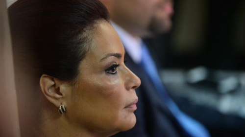 Roxana Baldetti pide ingresar a un hospital por una infección