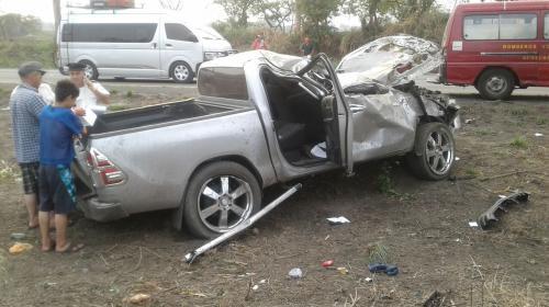 Cuatro muertos en aparatoso accidente en Ruta a Puerto Quetzal