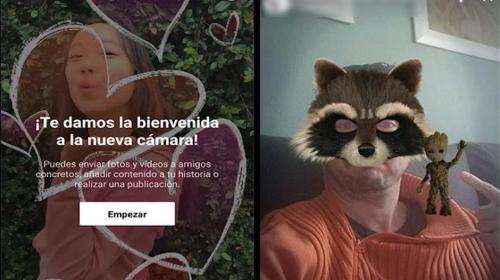 Facebook incorpora nuevos filtros y se parece más a Snapchat