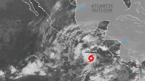 Tormenta tropical Adrián provocará lluvias en Guatemala