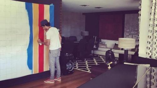 El impresionante mural que decora la casa de Neymar en Barcelona