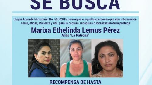 """Esto ofrecen por información para recapturar a """"La Patrona"""""""