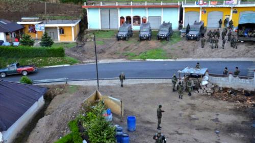 Ejército recibe amenazas durante Estado de Sitio en San Marcos