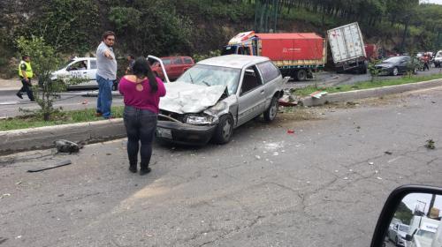 Así está la ruta Interamericana tras el accidente de un trailer