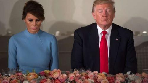 ¿Problemas matrimoniales? Dos gestos polémicos entre Melania y Trump