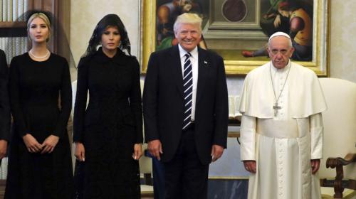 Así recibió el Papa Francisco a Donald Trump
