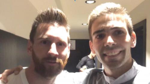 Joven dejó su país, su familia y perdió su empleo por conocer a Messi