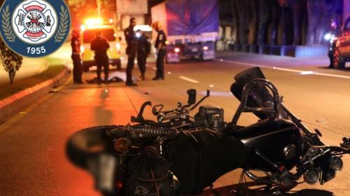 Motociclistas protagonizan accidentes fatales en la madrugada