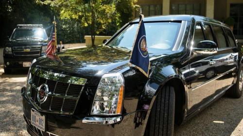 Así transporta el Servicio Secreto los autos de la comitiva de Trump