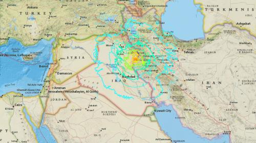 Videos: un potente terremoto de 7.6 grados sacudió Irán e Irak