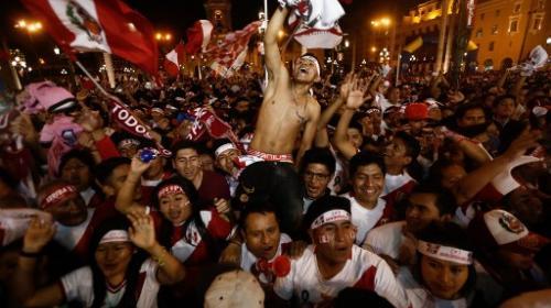 Así se celebró la clasificación de Perú en las calles