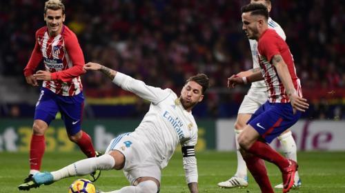 Ramos recibió un patadón en toda la cara que le dejó fuera del partido