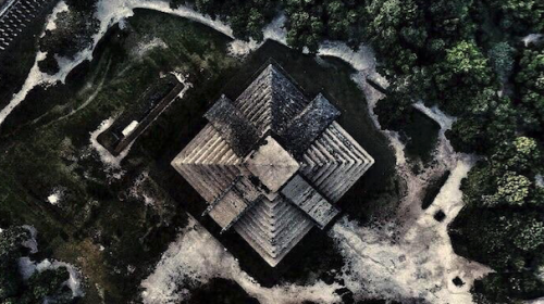 Esta es la polémica foto captada con un dron en Chichén Itzá