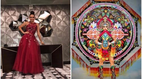 Guatemalteca deslumbró con un barrilete gigante en Miss Universo 2017