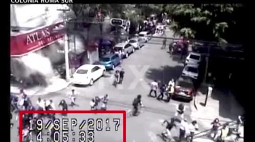 Graban desde adentro el colapso de edificio, tras terremoto en México
