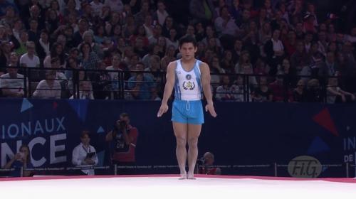 Jorge Vega clasifica a final de salto de potro en Mundial de Gimnasia