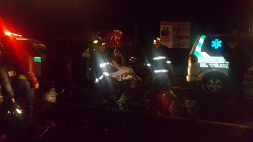 Accidente en ruta Interamericana deja un muerto y cinco heridos