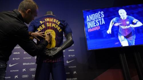 El emotivo video con el que el Barça anunció la renovación de Iniesta