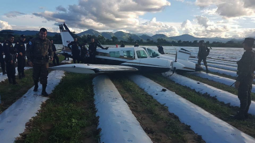 Avioneta con placas estadounidenses se accidenta en Jutiapa