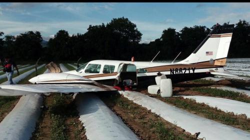 Así fue como interceptaron la avioneta con 382 paquetes de cocaína