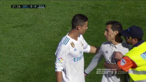 """Un """"Cristiano Ronaldo"""" invade el partido del Getafe y Real Madrid"""