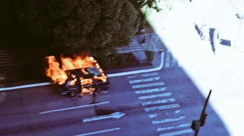 Esto provocó el incendio en microbús de un grupo de mariachis