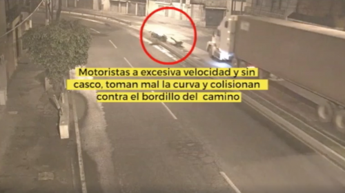 Terrible accidente: motorista abandona a su compañero herido