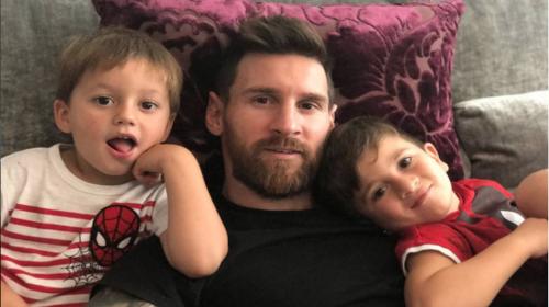 """Hijos de Messi se vuelven un """"meme"""" por una publicación en Instagram"""