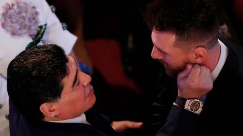 The Best: el cariñoso gesto que Maradona tuvo con Lionel Messi