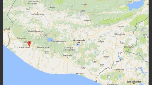 Se registra sismo de 4.2 grados con epicentro en Retalhuleu