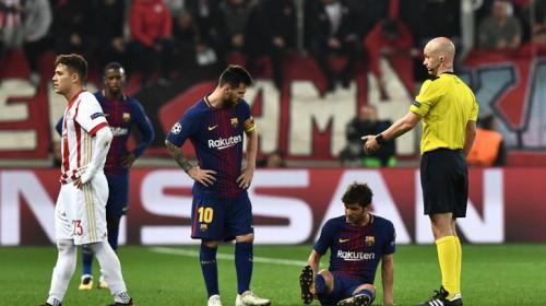 Lionel Messi y el FC Barcelona no pudieron contra el Olympiakos