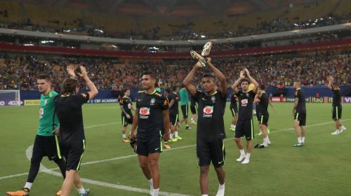 Los 48 toques de puro talento en el entreno de Brasil