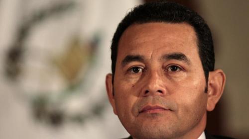 CSJ da trámite al antejuicio contra Jimmy Morales
