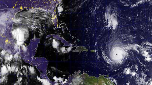 Así se ve el impresionante huracán Irma desde el aire