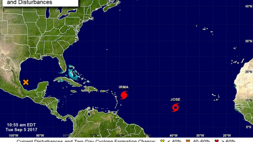 ¿El huracán Irma y la tormenta tropical José afectarán a Guatemala?
