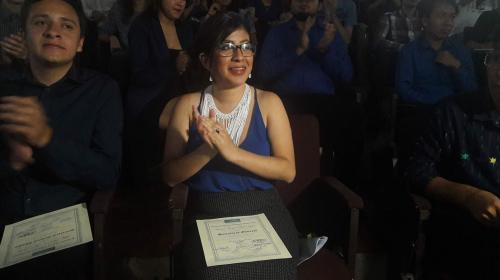 Lenina García y Frente Estudiantil juramentados como dirigentes de AEU