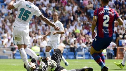 La jugada polémica del encuentro entre Real Madrid y Levante