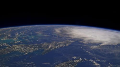 Así se ve el huracán Irma desde el espacio