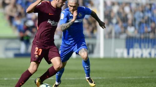 Al medio tiempo, el Getafe vence al FC Barcelona